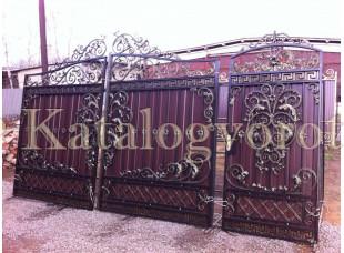 Кованые ворота с калиткой, артикул 3